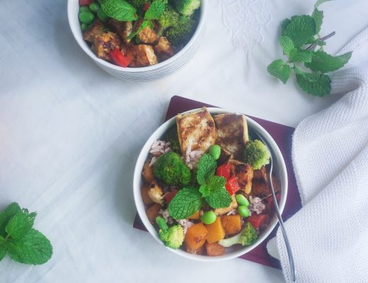 Orange Grilled Tempe Buddha Bowl