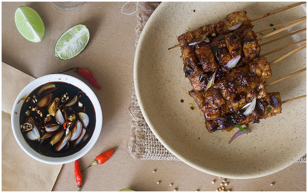 Sate Tempe- Grilled Skewered Tempeh