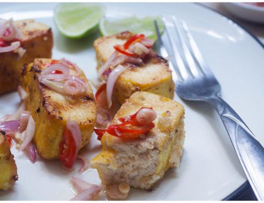 Grilled Tofu with Sambal Matah