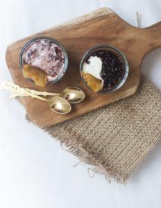 Black Sticky Rice Pudding