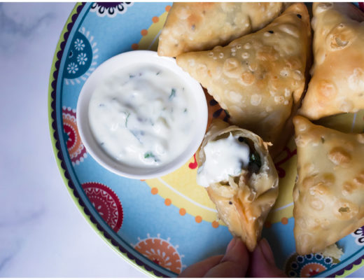 Potato and Curly Endive Samosa