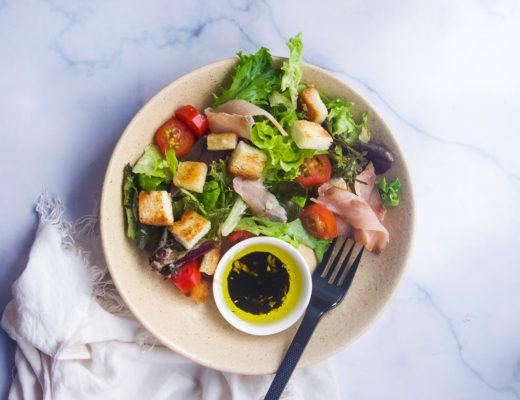 Smoked Gindara Salad with Balsamic Vinaigrette