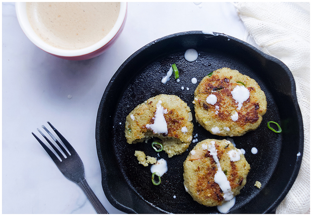 Za'atar and Goat Cheese Couscous Fritters