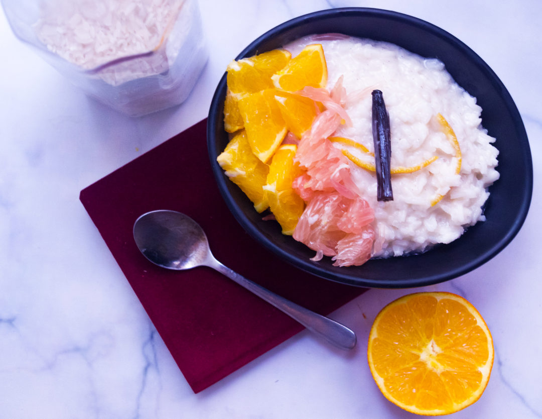 Orange-Pomelo Rice Pudding