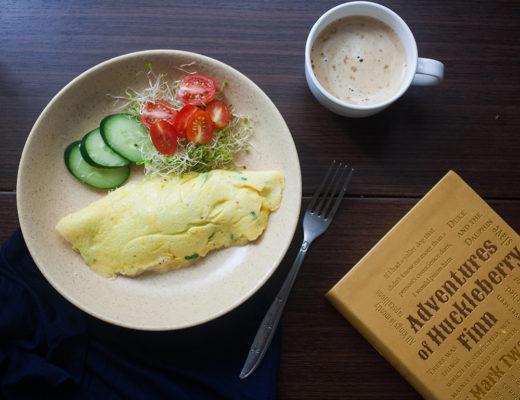 Alfalfa and Cream Cheese Omelette