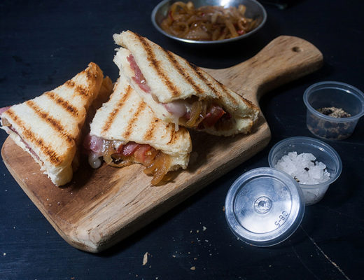 Grilled Cheese Sandwich with Spiced Onion Relish
