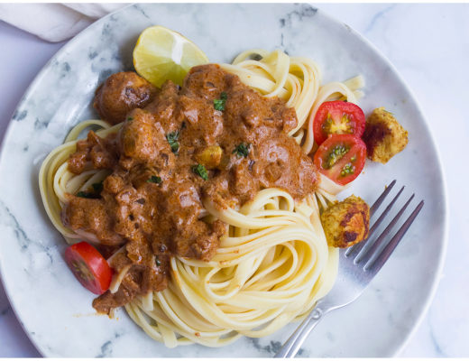 Indian Butter Chicken Fettucine