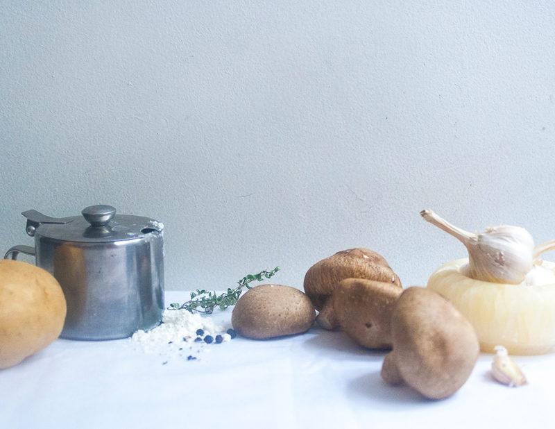 Potato, Mushroom and Tomato Tart