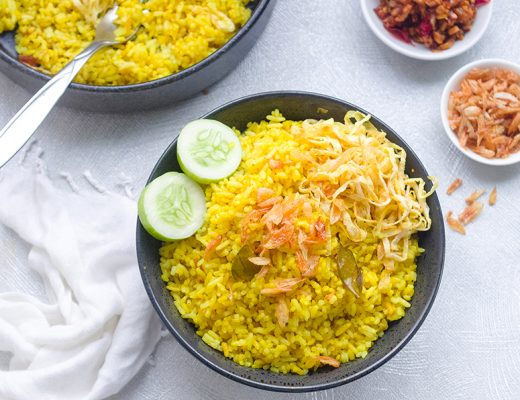 Nasi Kuning (Indonesian Fragrant Yellow Rice)