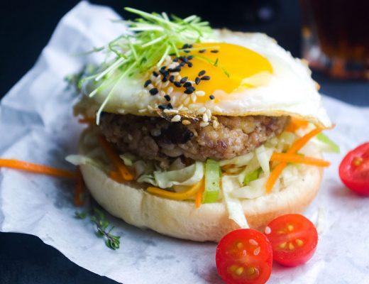 Rice and Mushroom Burger