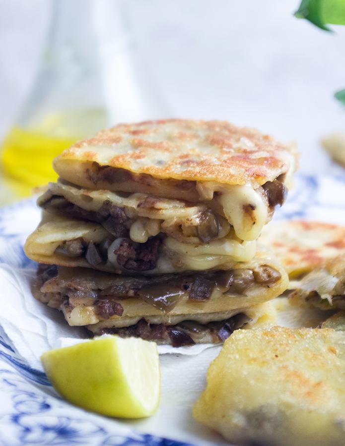 Cheesy Beef and Eggplant Gozleme