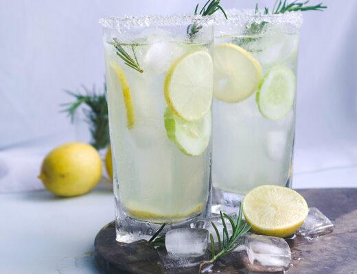 Aloe Vera and Roasemary Lemonade