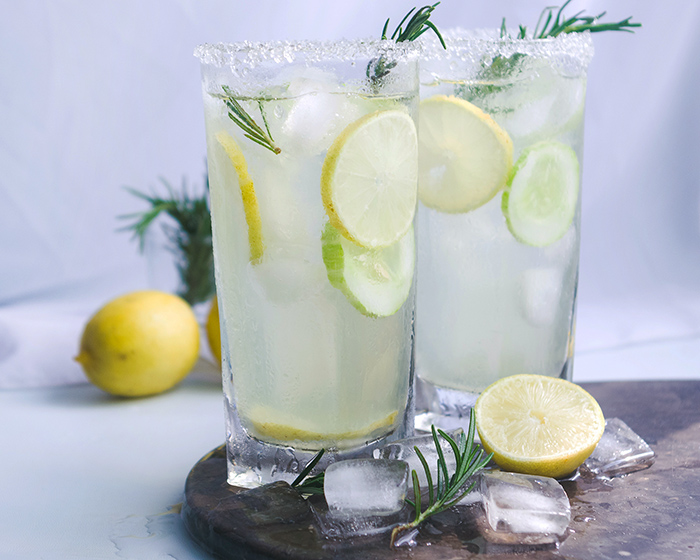 Aloe Vera and Roasemary Lemonade