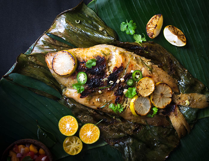 Grilled Tilapia in Banana Leaves