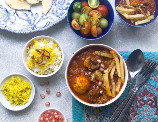Persian beef and yellow split peas stew