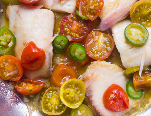 Pan-Seared Tilapia with Tomato & Torch Ginger